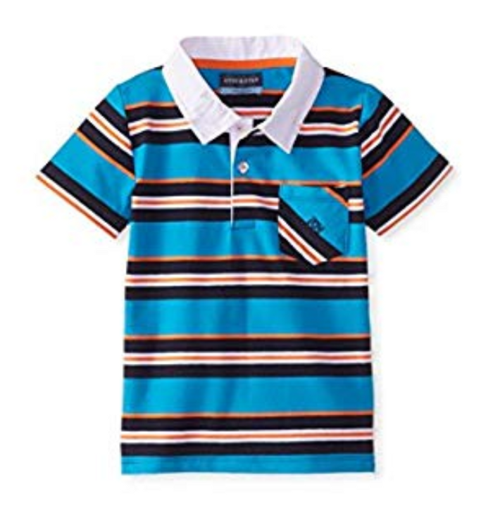 Andy & Evan Nick-Nack Polo - Teal Stripe