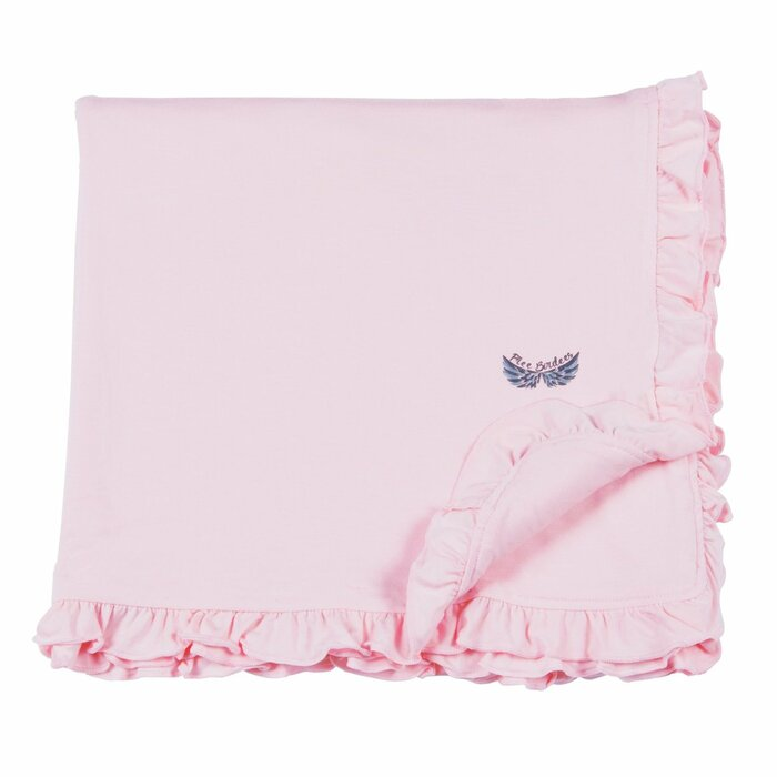 Free Birdees Season 1 - Heavenly Pink Ruffle Toddler Blanket