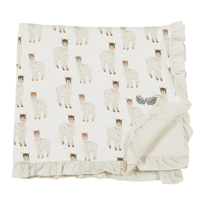 Free Birdees Season 1 - Alpaca Ruffle Toddler Blanket