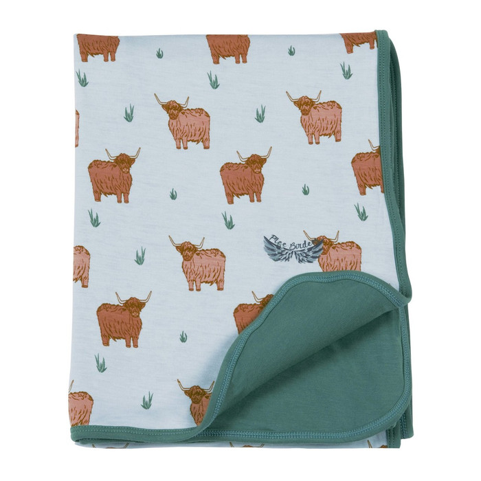 Free Birdees Season 1 - Highland Cattle Stroller Blanket