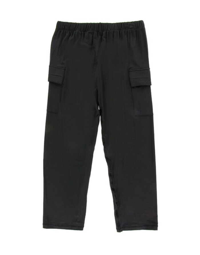 KicKee Pants Cancun Solid Performance Jersey Cargo Pant - Zebra