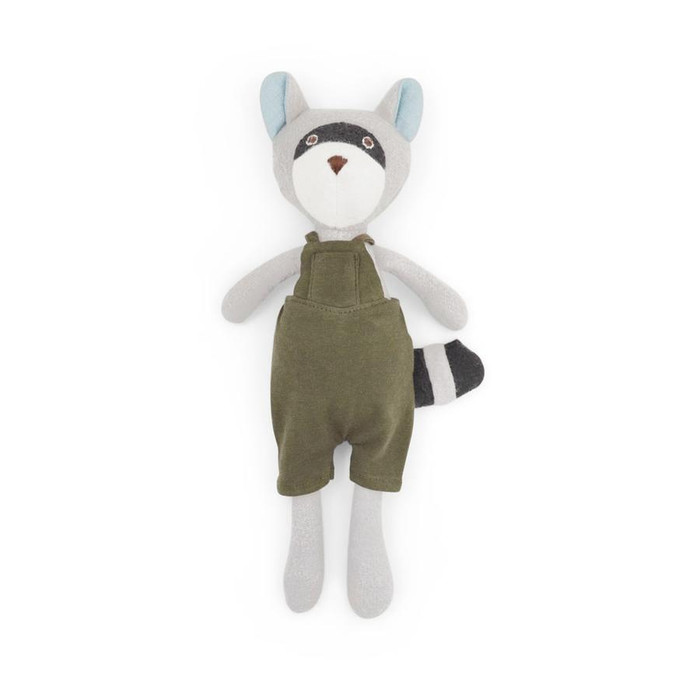 Hazel Village - Max Raccoon in Picnic Overalls