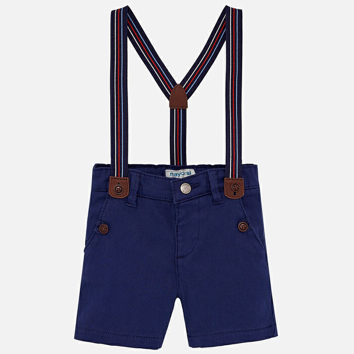 Mayoral Baby Boys Chino Shorts with Suspenders - Navy