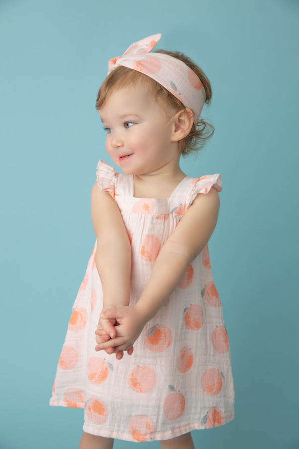 Angel Dear Muslin Sundress - Peachy