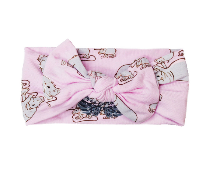 Pale Orchid Hippos Hair Bow