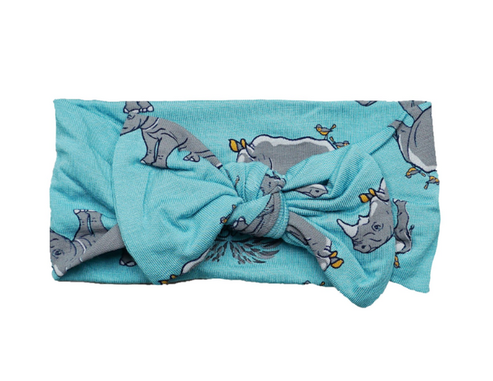 Blue Lagoon Rhinos Hair Bow