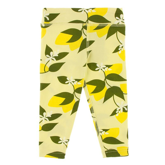 Kickee Pants Print Performance Jersey Legging - Lime Blossom Lemon Tree