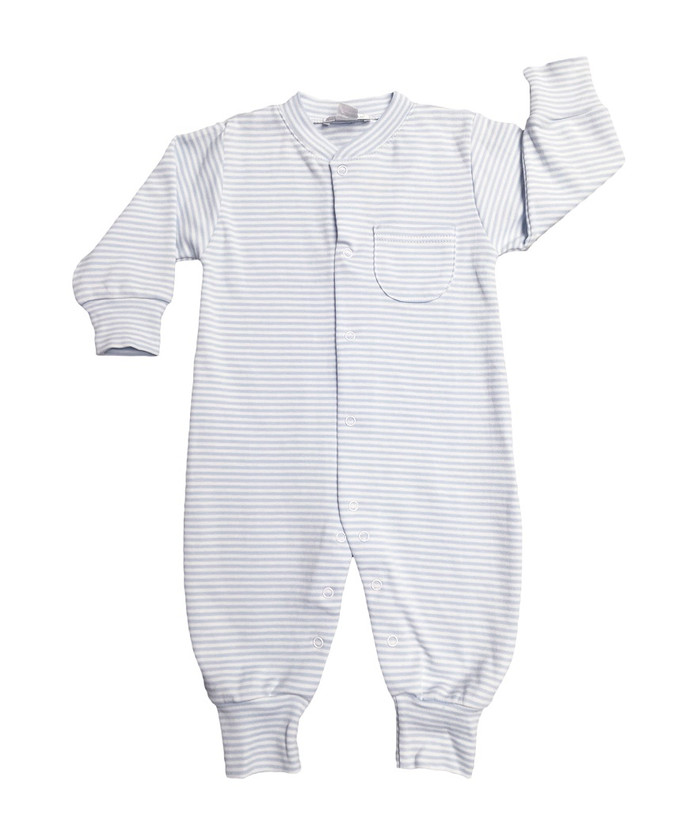 Kissy Kissy 100% Peruvian Pima Cotton Light Blue Stripes Playsuit