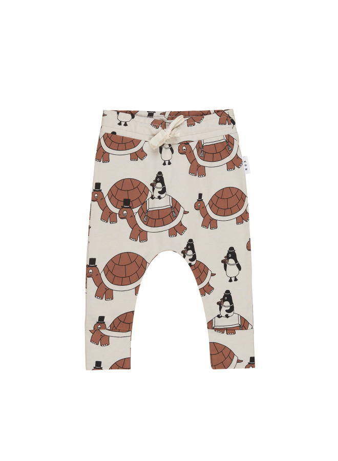 Huxbaby Organic Turtle Tour Drop Crotch Pant