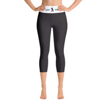 Americana Collection Yoga Capri Leggings in Black
