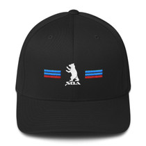Americana Collection Dad Hat in Black