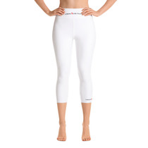 SBA Classic Collection Gym & Yoga Capri Leggings in White