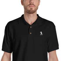 SBA Classic Collection Embroidered Polo Shirt in Black
