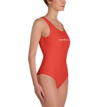SBA Classic Collection Long Logo One Piece Fitness Body Suit and Bikini in Red