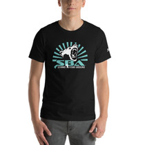 SBA Dominion Collection Rising Sun in Teal Unisex T-Shirt in Black
