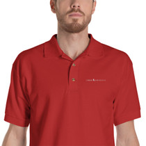 SBA Classic Collection Long Logo Embroidered Polo Shirt in Red