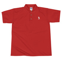 SBA Classic Collection Bear Logo Embroidered Polo Shirt in Red