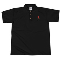SBA Classic Collection Bear Logo Embroidered Polo Shirt in Black