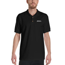 SBA Classic Collection Trainers Embroidered Polo Shirt in Black