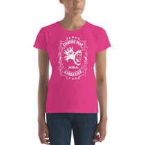SBA Dominion Collection Crowned Destroyer Womens Gym T-Shirt in Berry