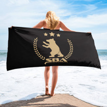 SBA Gold Collection  Gym, Yoga, Beach Towel in Black
