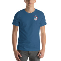 SBA Defenders Collection - Double Sided Print T-Shirt in Steel blue
