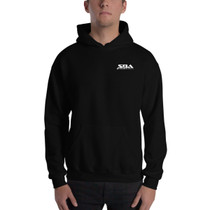 SBA Classic Collection Embroidered Hooded Sweatshirt in Black