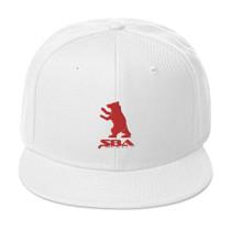 SBA Classic Snapback Hat White Red