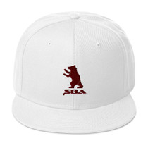 SBA Classic Collection Snapback Hat Burgandy White