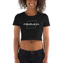 Figurlean Women's Crop Tee in Black