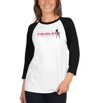 Figurlean 3/4 sleeve raglan shirt
