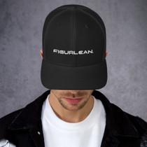 Figurlean Mens Trucker Cap in Black