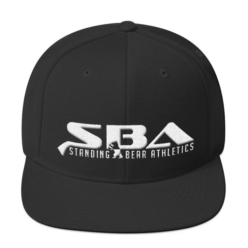SBA Stacked Logo Snapback in Black