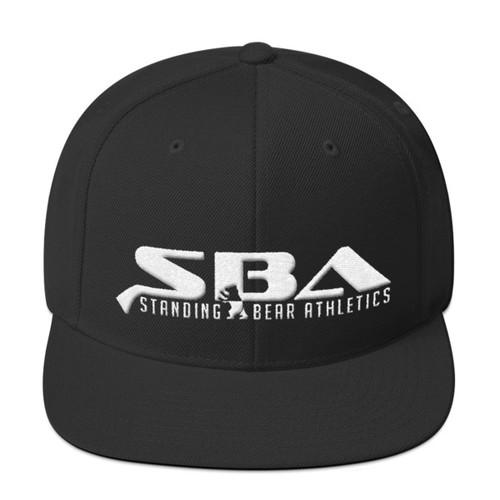 SBA Stacked Logo Snapback in Black