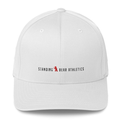 SBA Classic Collection Structured Twill Gym Cap in White