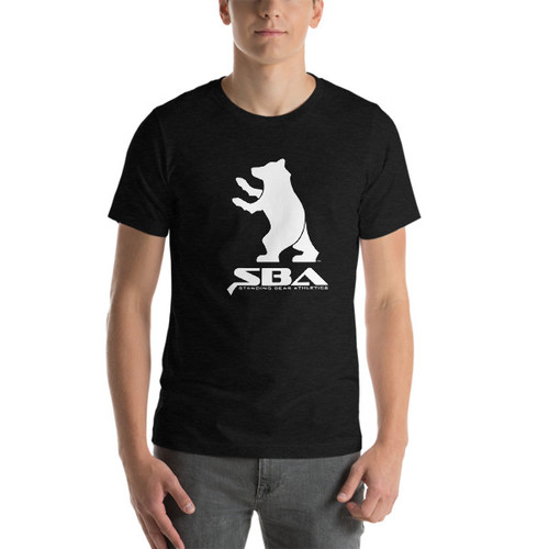 SBA Classic Collection Short-Sleeve Unisex Gym T-Shirt in Black