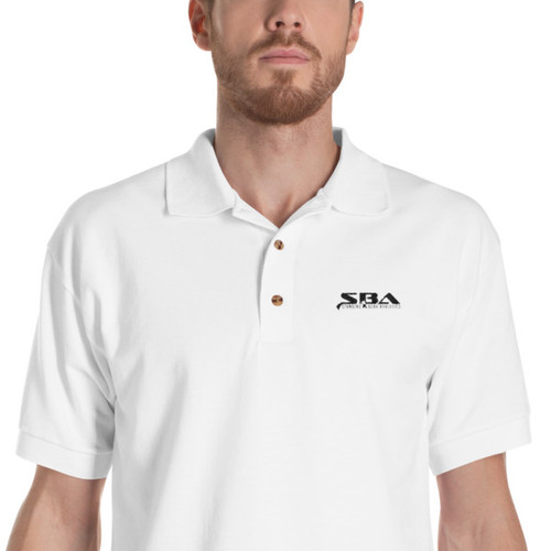 SBA Classic Collection Trainers Embroidered Polo Shirt in White