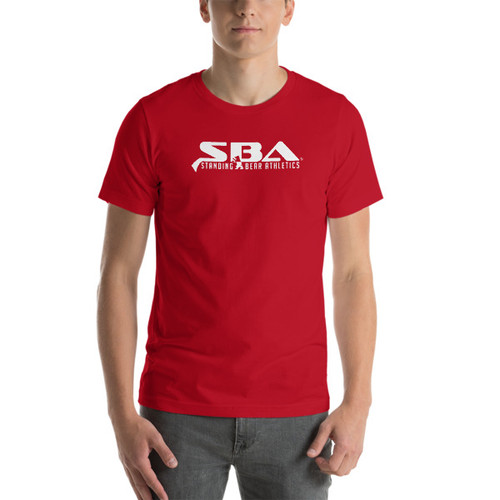 SBA Classic Collection Stacked Logo T-Shirt in Red