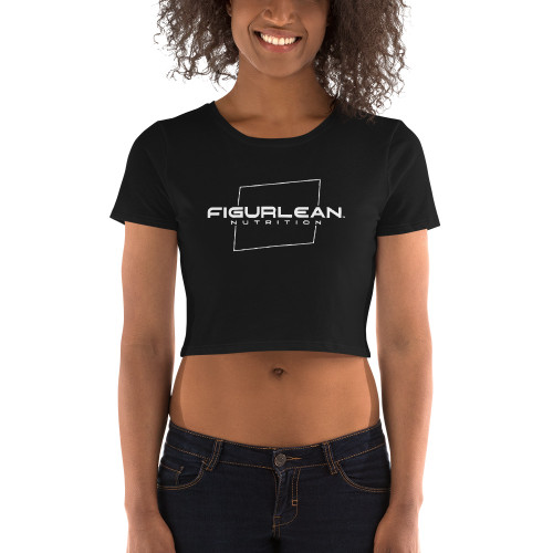 Figurlean Women's Crop Tee in Black