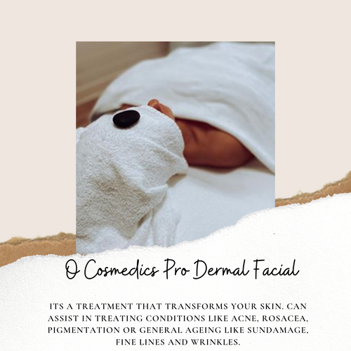 O Cosmedics Pro Dermal Facial 45mins   The O Cosmedics Pro Dermal Series treatments offer skin solutions to repair, rejuvenate and stimulate cellular activity. These treatments are programmed to match your skin type and individual skin requirements. Your therapist will choose from the Catalyst Retinol, Oxygenating Enzyme, Bio-White or Alpha Beta Peels and personally prescribe the best programme for your skin. Serious skin treatments for serious skin conditions!