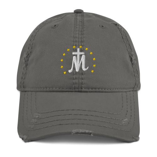 Distressed Marian Cross Dad Hat