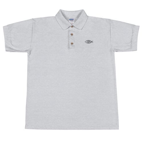 Ichthys Embroidered Polo Shirt