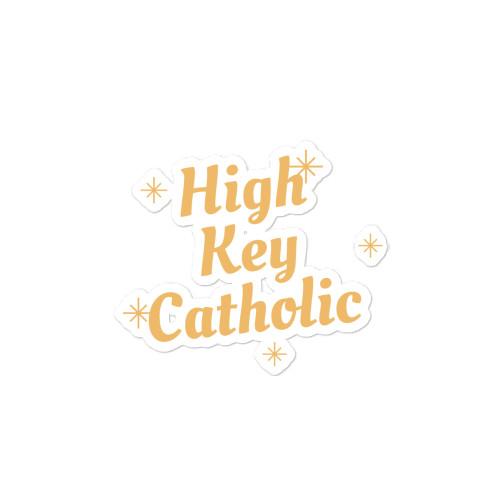 High Key Catholic sticker