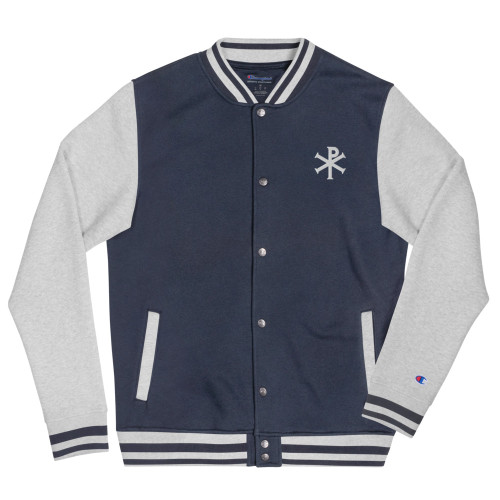 Chi Rho Embroidered Champion Bomber Jacket