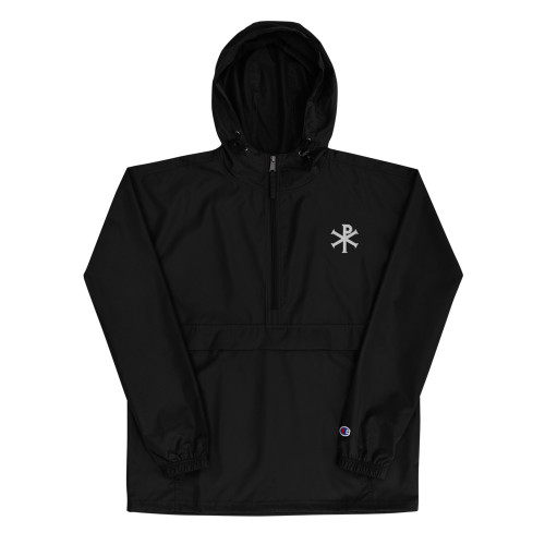 Chi Rho Embroidered  Packable Jacket