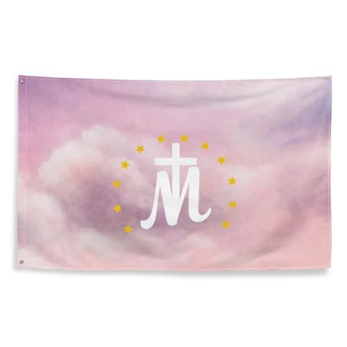 Marian Cross sky Flag