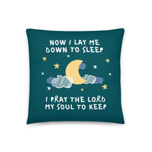 Now I Lay Me Down To Sleep Basic Pillow