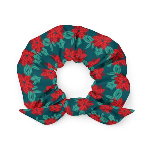 Christmas Poinsettia Scrunchie
