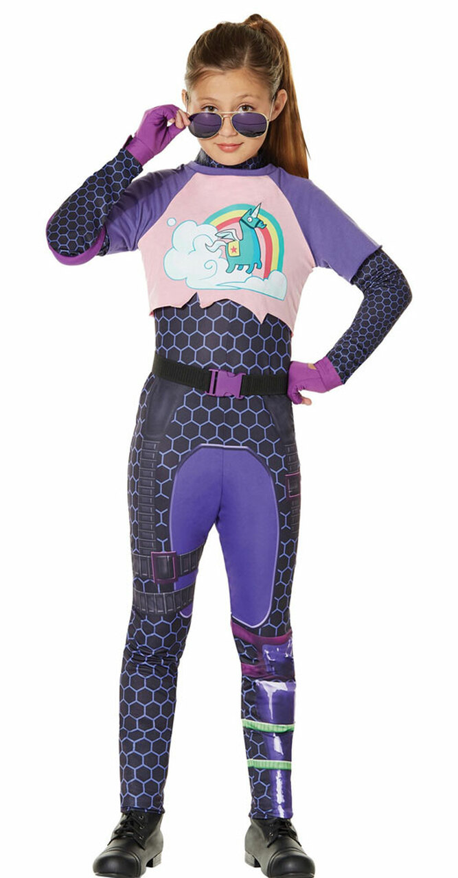Purple Kids T-Shirt NEW /& OFFICIAL! Fortnite /'Brite Bomber Airbrush/'