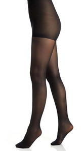 Shimmer Semi-Opaque Tights Control Black